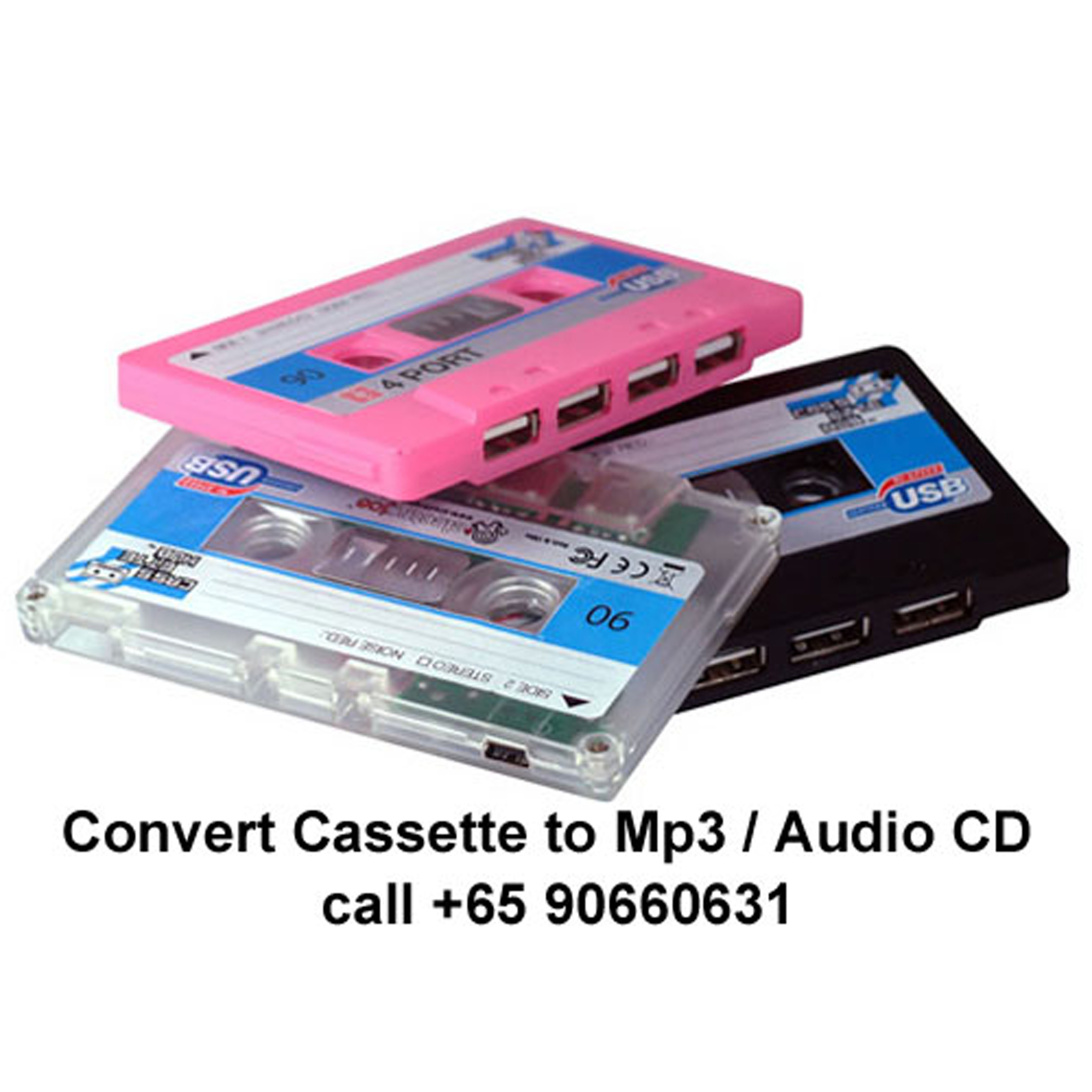 Convert Cassette tape to MP3/Audio CD – call 90660631