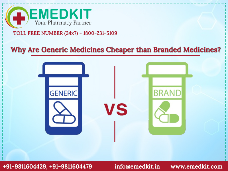 Why Are Generic Medicines Cheaper than Branded Medicines?