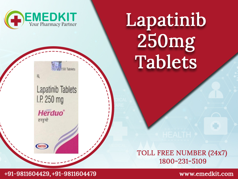 Buy Lapatinib 250mg tablet from India - Emedkit