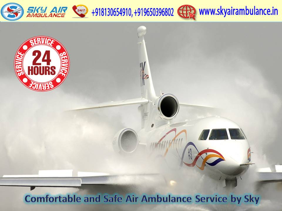 Select First Class Patient Shifting convenience by Sky Air Ambulance Services in Chennai