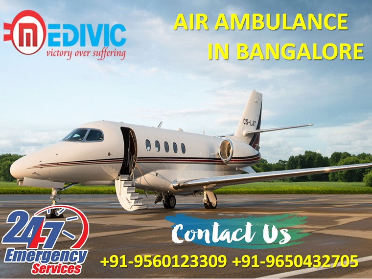 Select World Famous Exigency Air Ambulance from Bangalore by Medivic