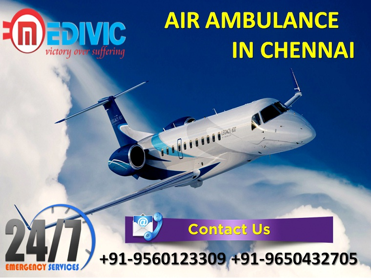 Pick Hi-tech ICU Support Air Ambulance from Chennai by Medivic