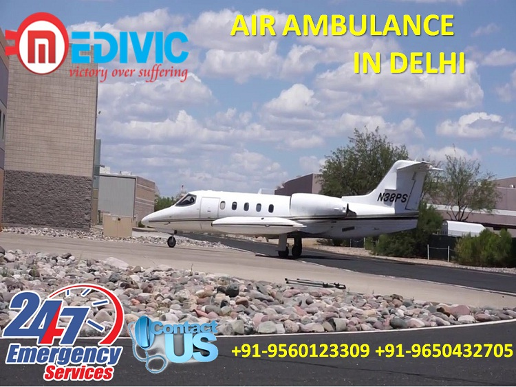 Avail Life Savoir in Medical Emergency Air Ambulance in Delhi by Medivic