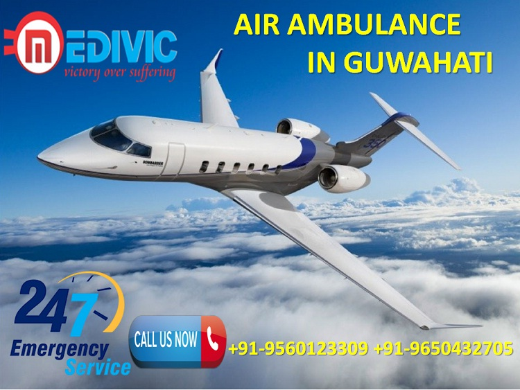 Get Hi-fi Life Support System Air Ambulance Service in Guwahati by Medivic