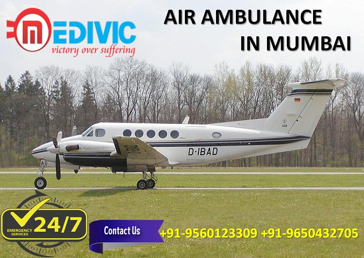 Use First Class Medical Assistance Air Ambulance in Mumbai by Medivic