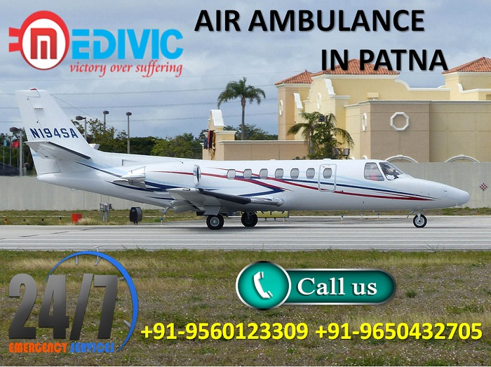 Take Appropriate Medical ICU Support Air Ambulance in Patna by Medivic