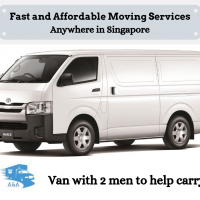Van with 2 men fr $80 Call +65 8141 0059