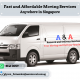 Van with driver to drive only $40 (+65 8141 0059)