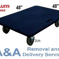 "Heavy Stuffs to Move? We Sell Quality Trolley w/ 48""x48""x0.6"" Flat Bed."
