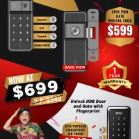 Clearance Sales Promotion for Basic Function Digital Lock for HDB Gate and Door at $699 ONLY .