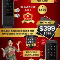 Cheapest Digital Lock for Gate and Door at $399 ONLY. 50% Discount.